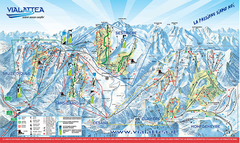 CESANA TORINESE MAP WinterSportscom