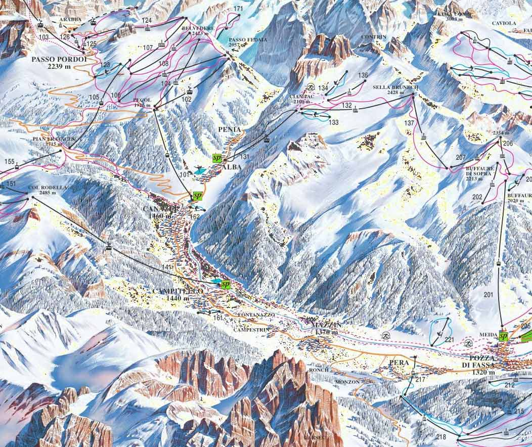 CAMPITELLO DI FASSA MAP WinterSportscom
