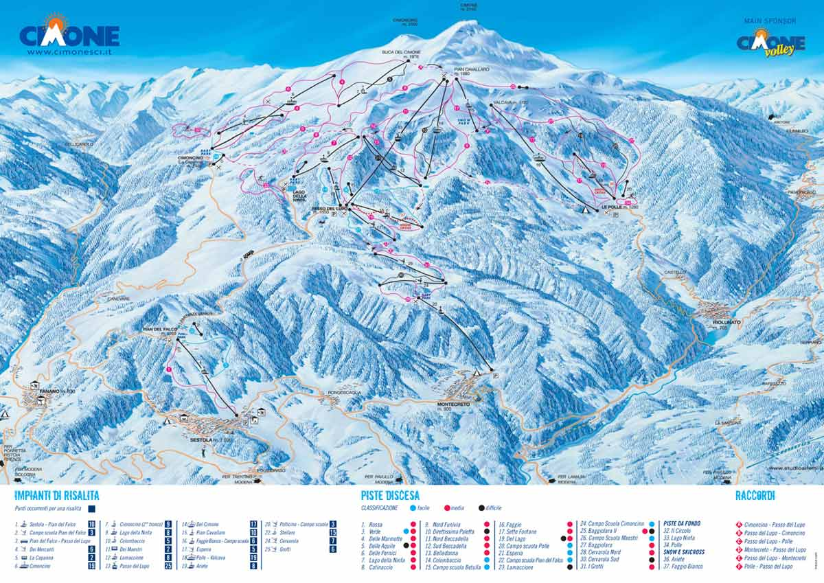 CIMONE MAP WinterSportscom