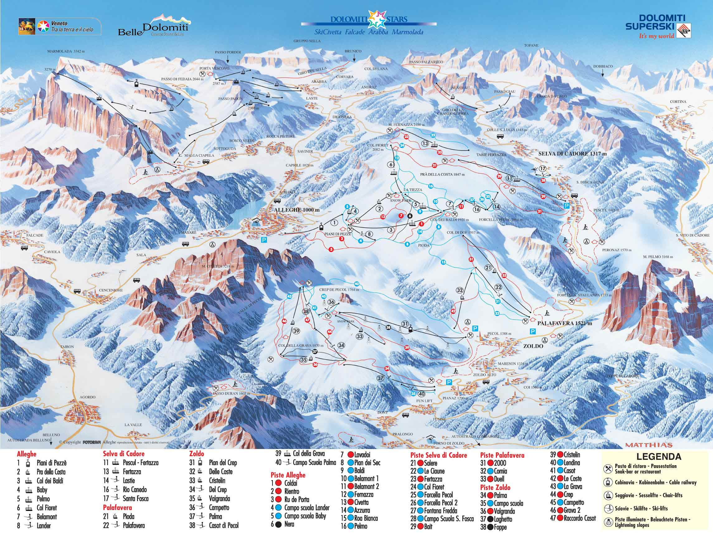 ZOLDO ALTO MAP WinterSportscom