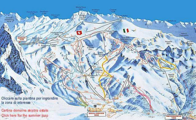 CERVINIA BREUIL MAP WinterSportscom