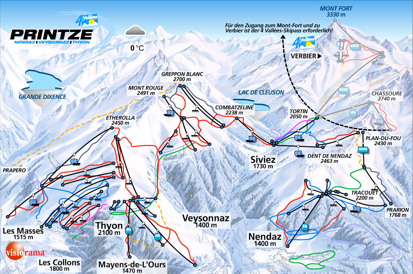 NENDAZ MAP WinterSportscom