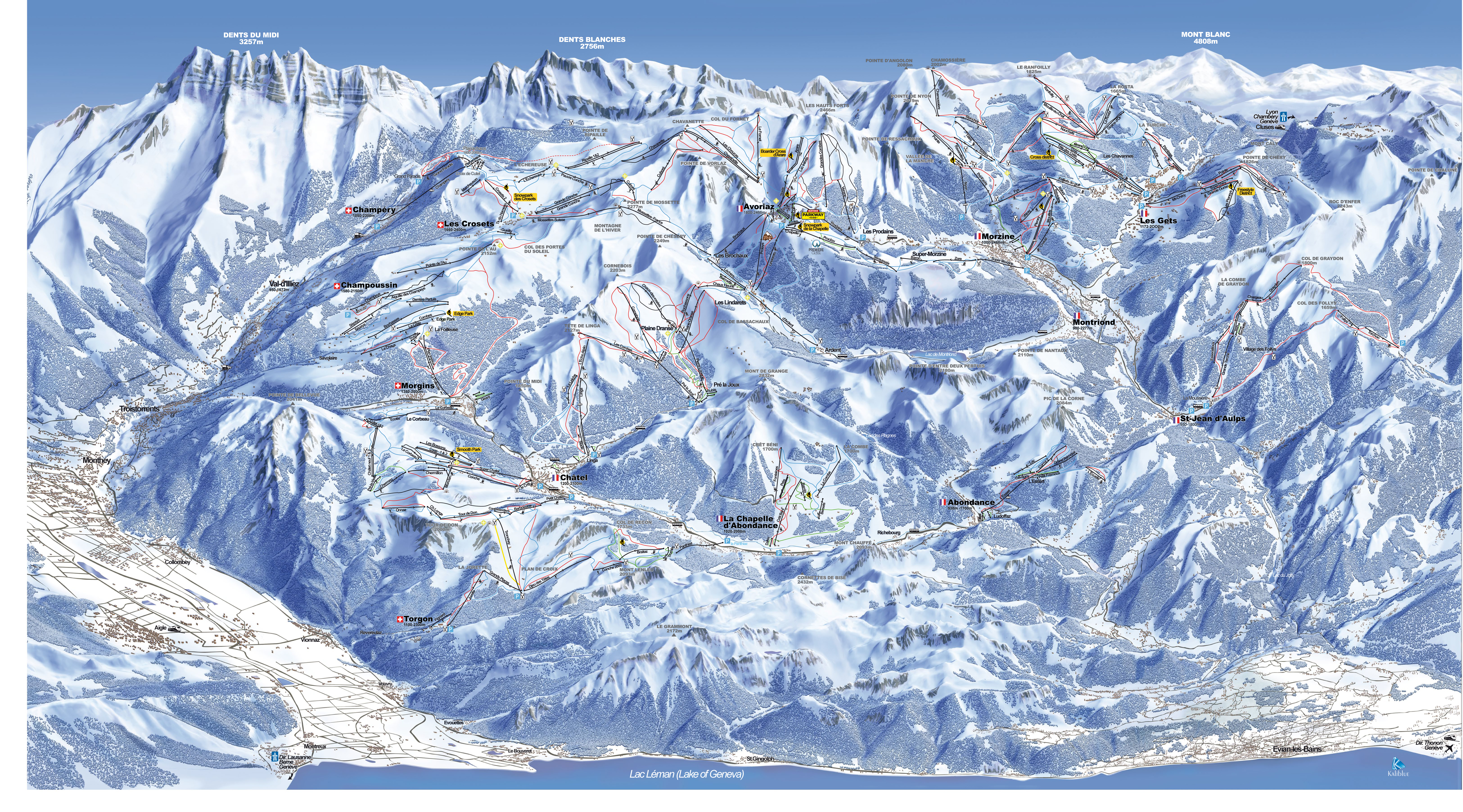 AVORIAZ MAP 0 open ski lift WinterSportscom