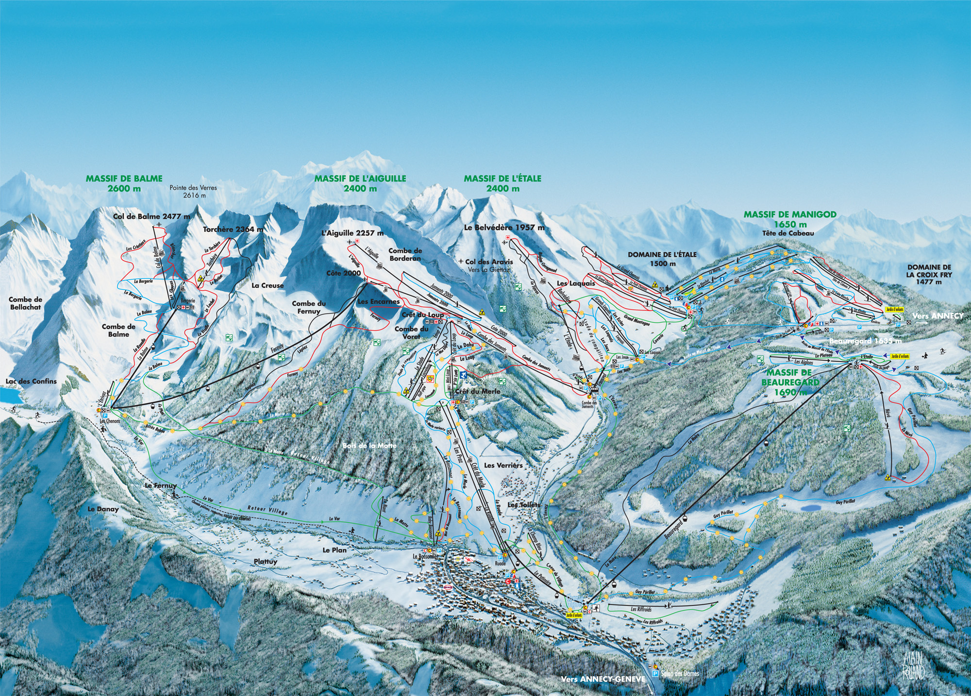 LA CLUSAZ MAP 0 open ski lift WinterSportscom
