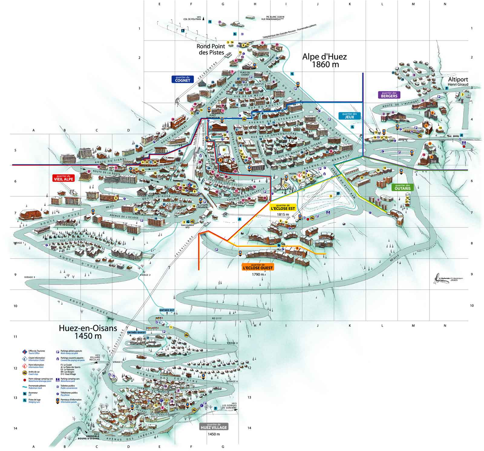 Maps of the ski resorts
